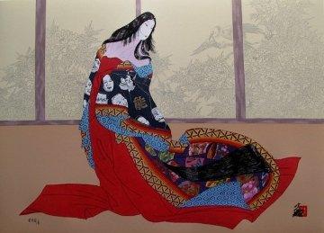 Lady of Noh 1989 Limited Edition Print by Hisashi Otsuka