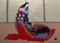 Lady of Noh 1989 Limited Edition Print by Hisashi Otsuka - 1