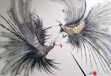 Double Kiss  1986 Limited Edition Print - Hisashi Otsuka