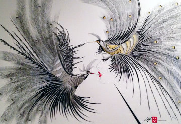 Double Kiss  1986 Limited Edition Print by Hisashi Otsuka