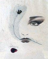 Eyes 1995 20x23 Original Painting by Hisashi Otsuka - 0