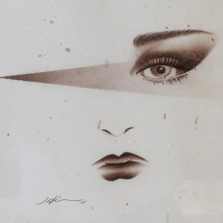 Paris Eyes 1993 20x23 Original Painting by Hisashi Otsuka