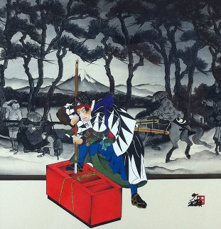 Kayano Village 25x25 Original Painting - Hisashi Otsuka