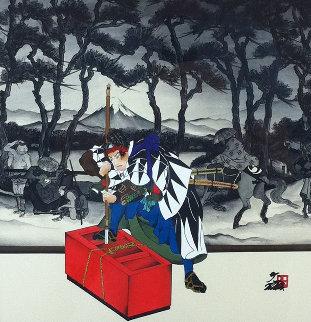Kayano Village 25x25 Original Painting by Hisashi Otsuka