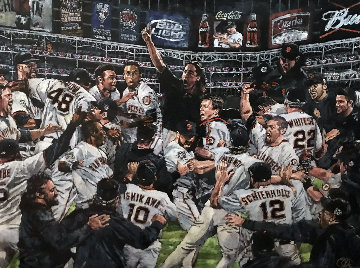 2010 San Francisco Giants World Series Celebration 2010 Embellished  Limited Edition Print - Opie Otterstad