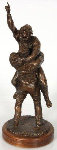 2005 World Series Red Sox Victory Embrace Bronze Sculpture 2008 26 in Sculpture - Opie Otterstad