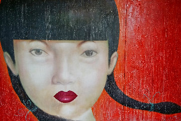 Beauty of Asia XXV  2014 47x65 Super Huge Original Painting -  Ouaichai