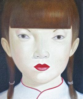Beauty of Asia XI 2012 47x40 Huge Original Painting -  Ouaichai