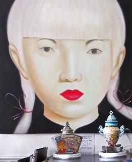 Beauty of Asia XXVII 2012 47x47 Huge Original Painting -  Ouaichai