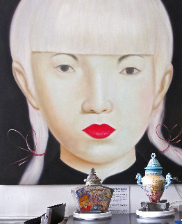 Beauty of Asia XXVII 2012 47x47 Super Huge Original Painting -  Ouaichai