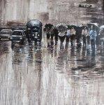 Chinatown Streets III 2012 Original Painting -  Ouaichai
