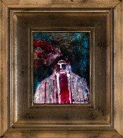 Indian Chief 2002 20x17 Original Painting by Pablo Antonio Milan - 1