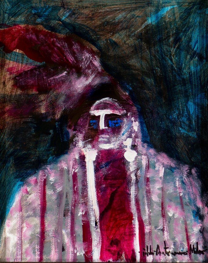 Indian Chief 2002 20x17 Original Painting by Pablo Antonio Milan