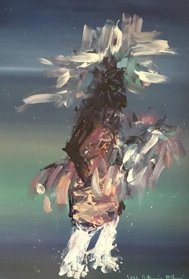 Kachina Dancer 54x41 Super Huge Original Painting by Pablo Antonio Milan