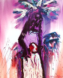 Lone Dancer 48x40 Huge Original Painting - Pablo Antonio Milan