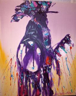 Chief 1991 48x40 Original Painting - Pablo Antonio Milan