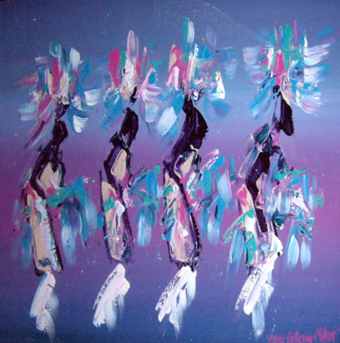 Kachina Dancers 1991 37x48 Super Huge Original Painting by Pablo Antonio Milan