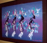 Kachina Dancers 1991 37x48 Super Huge Original Painting by Pablo Antonio Milan - 1