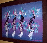 Kachina Dancers 1991 37x48 Super Huge Original Painting by Pablo Antonio Milan - 4