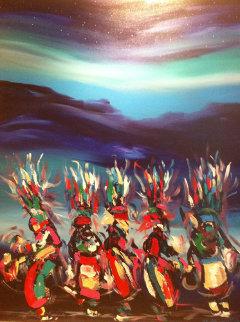 Starlight Dance 60x48 Original Painting by Pablo Antonio Milan