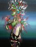 Harvest Dancer 1994 50x40 Original Painting - Pablo Antonio Milan