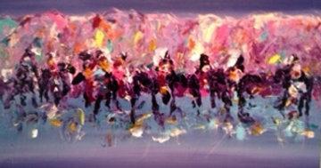 Canvas 1 Waterhole  1988 30 X 42 Original Painting - Pablo Antonio Milan