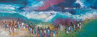 Night Coming 1980 32x80 Super Huge Original Painting by Pablo Antonio Milan - 0