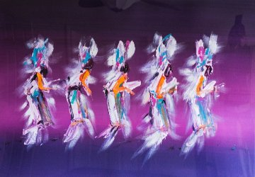 Harvest Dance 1988 42x54 Huge Works on Paper (not prints) - Pablo Antonio Milan