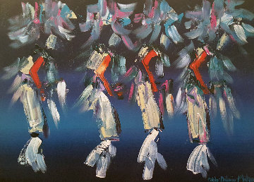 Kachina Dancers 30x40 Original Painting by Pablo Antonio Milan