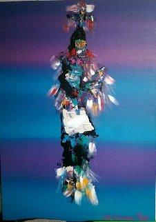 Kachina Dancer 42x30 Original Painting - Pablo Antonio Milan