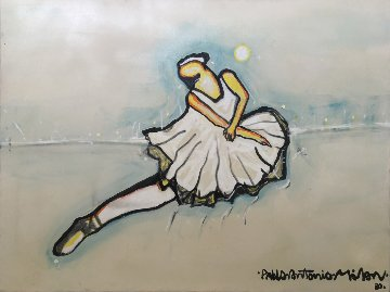 Ballerina 1980 36x48 Super Huge Original Painting - Pablo Antonio Milan