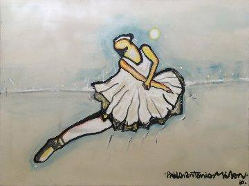 Ballerina 1980 36x48 Original Painting by Pablo Antonio Milan