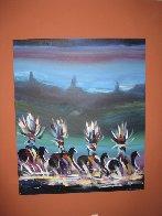 Korn's Riders 1993 60x72 Super Huge Original Painting by Pablo Antonio Milan - 1