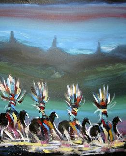 Korn's Riders 1993 60x72 Original Painting - Pablo Antonio Milan