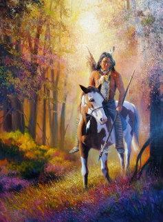 Cheyenne Autumn 58x46 Original Painting - Charles H Pabst