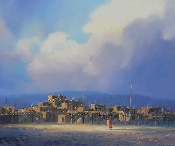 Taos Wind 20x24 Original Painting - Charles H Pabst