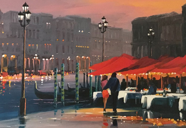 Lights of Venice Embellished Limited Edition Print by Charles H Pabst
