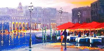 Lights of Venice 2014 Embellished Limited Edition Print - Charles H Pabst