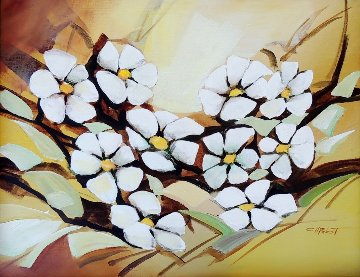 Untitled Flowers 30x24 Original Painting - Charles H Pabst