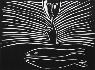Pesci Linocut 1987 Limited Edition Print - Mimmo Paladino
