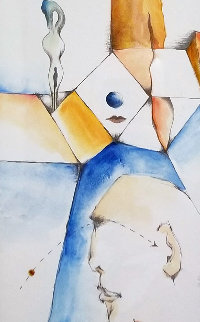 See It Like It is 2010 13x7 Original Painting by Dominic Pangborn