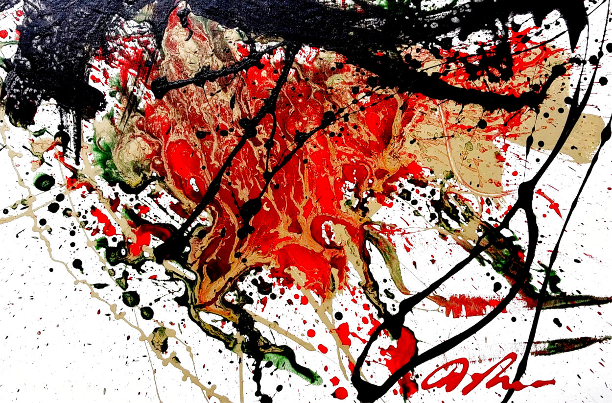 Hunger 2007 32x37 Original Painting by Dominic Pangborn