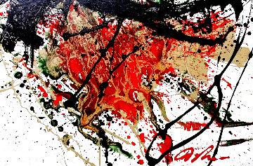 Hunger 2007 32x37 Original Painting - Dominic Pangborn