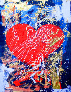 Sgraffito Valentine 2006 Embellished Limited Edition Print - Dominic Pangborn