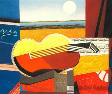 Guitare I   Limited Edition Print by Max Papart