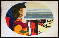 Piano Blues - Profile De Femme 1989 Limited Edition Print by Max Papart - 1