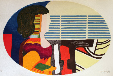 Piano Blues - Profile De Femme 1989 Limited Edition Print by Max Papart