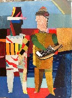 Deux Musicians 1980 Super Huge Limited Edition Print by Max Papart - 1