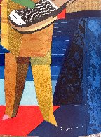 Deux Musicians 1980 Super Huge Limited Edition Print by Max Papart - 4
