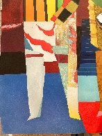 Deux Musicians 1980 Super Huge Limited Edition Print by Max Papart - 5